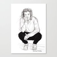 coconutwishes Canvas Prints featuring Cute Harry by Coconut Wishes