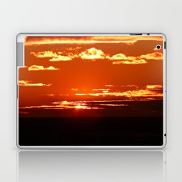 Red Gold Sunset in the Clouds Laptop & iPad Skin