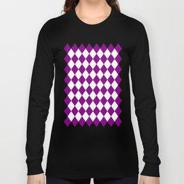 Diamonds (Purple/White) Long Sleeve T-shirt
