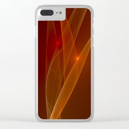 Lights Are Shining, Abstract Fractal Art Clear iPhone Case