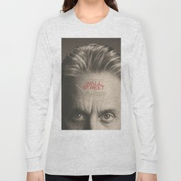 Wall Street, alternative movie poster, Gordon Gekko, Oliver Stone, film, minimal fine art playbill Long Sleeve T-shirt