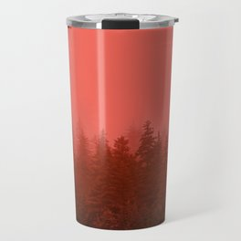 0388 Chocolate Forest with Living_Coral Fog, AK Travel Mug