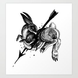 Hunted Rabbit Art Print