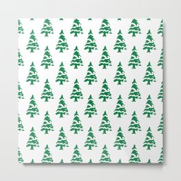 Christmas tree green Metal Print