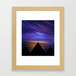 ESCAPE - Pyramids Silhouette Framed Art Print