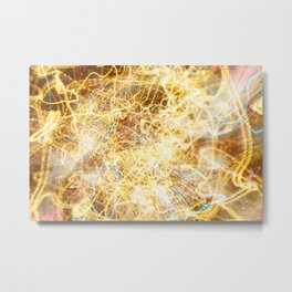 Golden Frequencies Metal Print