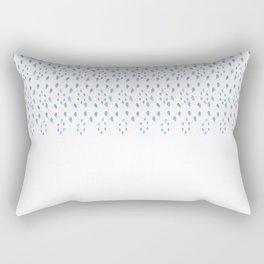 Eyelet Blue Rectangular Pillow