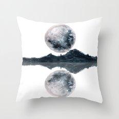 Caught Between the moon Throw Pillow
