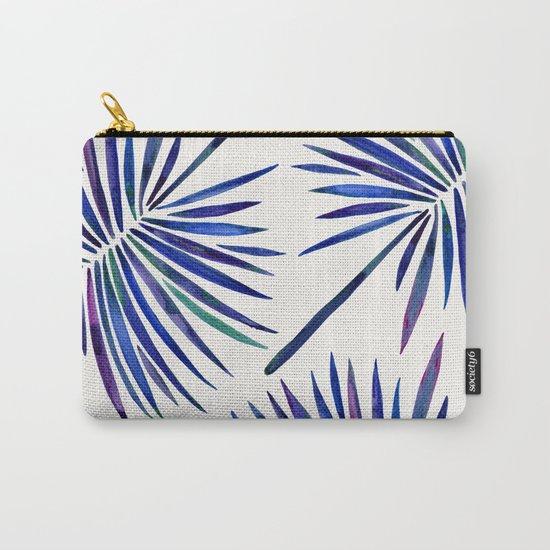 Tropical Fan Palm – Indigo Carry-All Pouch