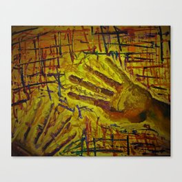 Hand with pattern  Canvas Print