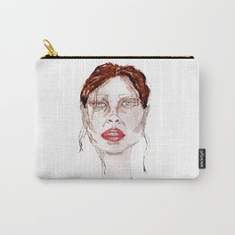 Watercolor abstract girl Carry-All Pouch