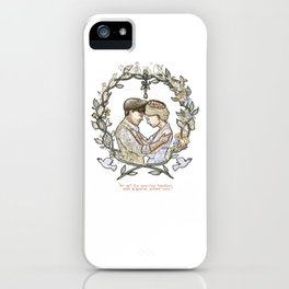 """Illustration from the video of the song by Wilder Adkins, """"When I'm Married"""" (no names on it) iPhone Case"""