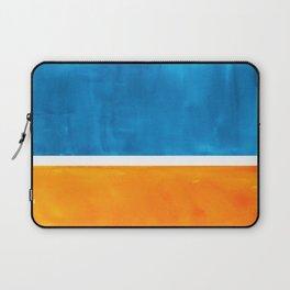 Colorful Jewel Tones Blue Gold Color Block Minimalist Watercolor Art Modern Simple Shapes Laptop Sleeve
