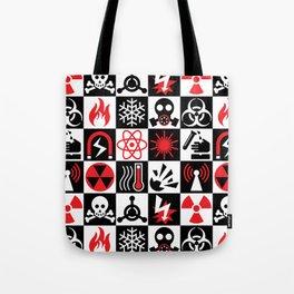 Hazard Danger Icons Tote Bag