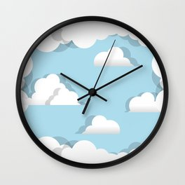 Clouds chasing - paper cut series -  Wall Clock