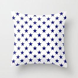 Stars Texture (Navy Blue & White) Throw Pillow