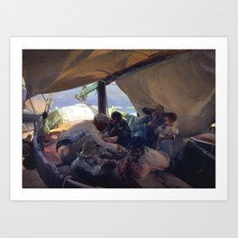Lunch on the Boat by Joaquin Sorolla, 1898 Art Print