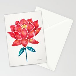 Sacred Lotus – Red Blossom Stationery Cards