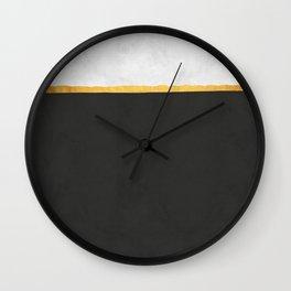 Gold Composition XIX Wall Clock