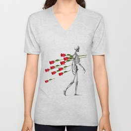 Skeleton&Roses Unisex V-Neck