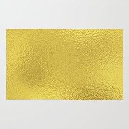 Simply Metallic in Yellow Gold Rug