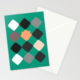 Turquoise touch of Geometric Rebelion Stationery Cards