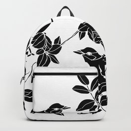 Birds on Branches, Drawing (Black on White) Backpack