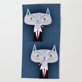 One Cool Cat Beach Towel