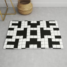Cool Crossword Pattern Rug