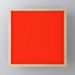 Bright Red Fiesta Fashion Color Trends Spring Summer 2019 Framed Mini Art Print