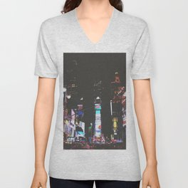 Evening Glow - Times Square Unisex V-Neck