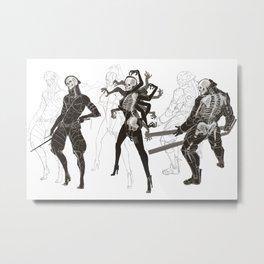 MGR Bones Metal Print