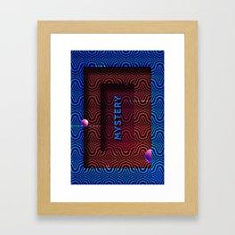 Mysterious entrance Framed Art Print