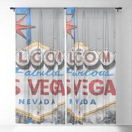 Welcome to Fabulous Las Vegas Sheer Curtain