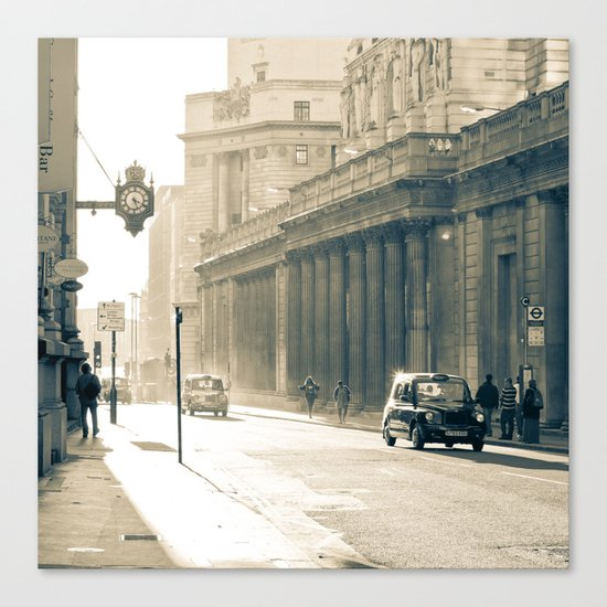 Old street that vanishes Canvas Print