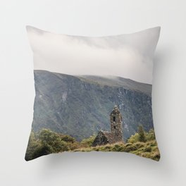 Glendalough Mountain Monastery Throw Pillow