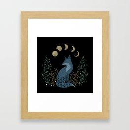 Fox on the Hill Framed Art Print