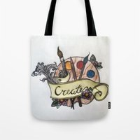 creativity Tote Bags featuring Creativity by breeelise