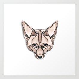 Edges (Fox) Art Print