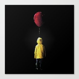 It Georgie Stained Glass Canvas Print