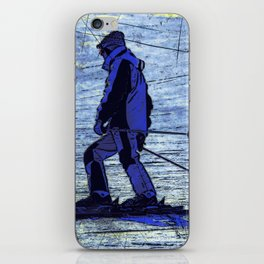 Sundown Skier iPhone Skin