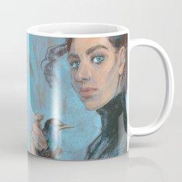 A girl with a starling Coffee Mug