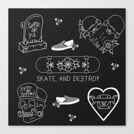 skate - destroy Canvas Print