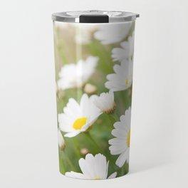 White chamomiles herb flowering plant Travel Mug