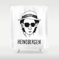 royal tenenbaums Shower Curtains featuring Heinsbergen (Royal Tenenbaums/Breaking Bad) by Tabner's