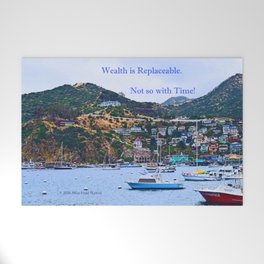 """""""Catalina Harbor""""/ """"Time"""" Welcome Mat"""