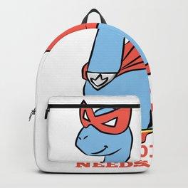 Superhero Brachiosaurus dinosaur gift Backpack