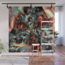 Burning Crystals Wall Mural
