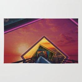 Bridge of a Thousand Colors, a Beautiful Rainbow Fractalscape Rug