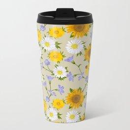 Prairie Floral Metal Travel Mug